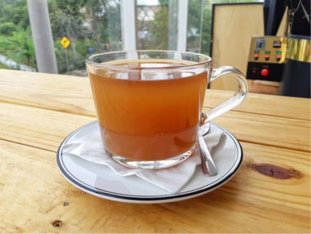 Hot Tea Lemon Tea White Sugar - -