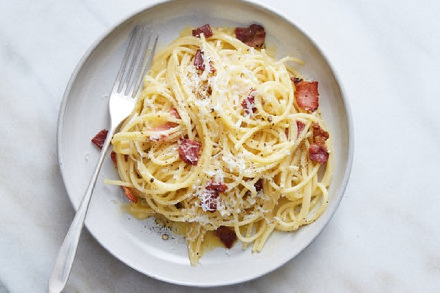 Spaghetti Carbonara Cheese Sosis - -
