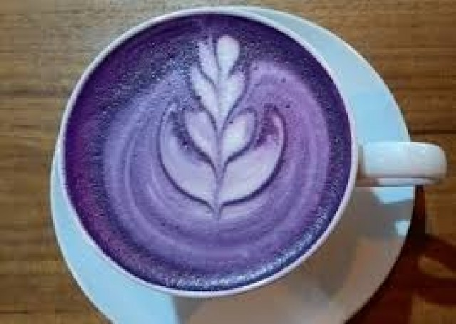 Latte Hot Taro - - -
