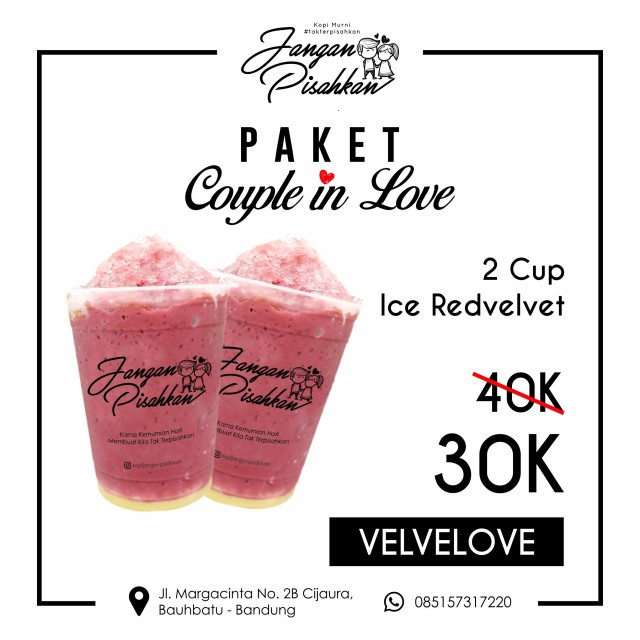 Velvelove Ice Red Velvet 2 Ice Red Velvet Cold Beverage 300 ml
