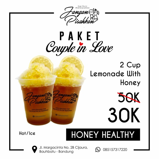 Paket Promosi HoneyHealthy Lemonade With Honey 2 Ice/Hot Lemonade With Honey Lemonade With Honey 300 ml